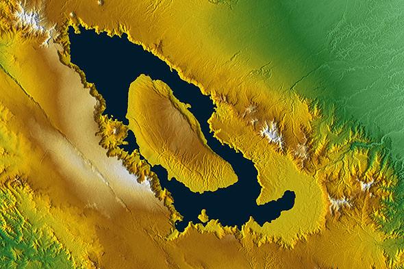 In der Caldera des Toba-Supervulkans ist heute ein See