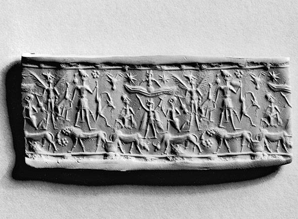 Ein Zylinder-Siegel der Mitanni - von der Kultur dieses Volks ist nur wenig bekannt.