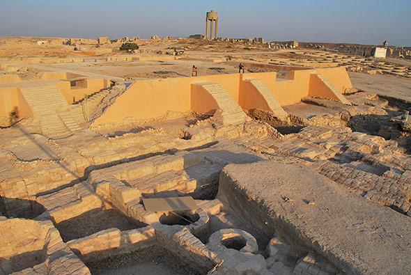 Der Königspalast von Qatna nach Ausgrabungen im Jahr 2009