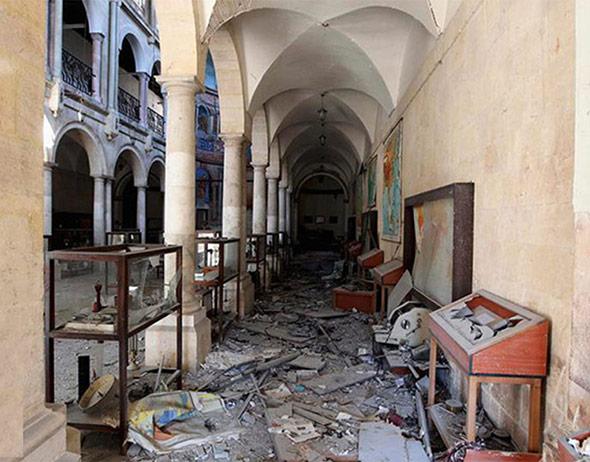 Geplündertes und zerstörtes Museum in Aleppo
