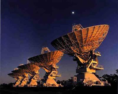 Radioteleskope des Australia Telescope Compact Array