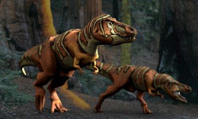 Tyrannosaurier auf der Jagd