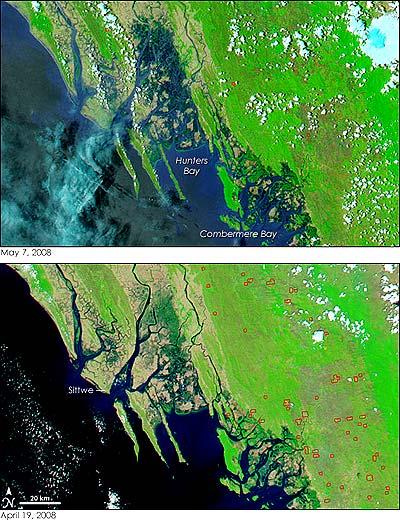 Überschwemmungen in Myanmar