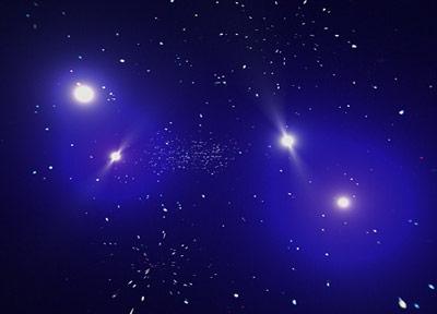 Was liegt zwischen Galaxien, Sternen und anderer Materie?