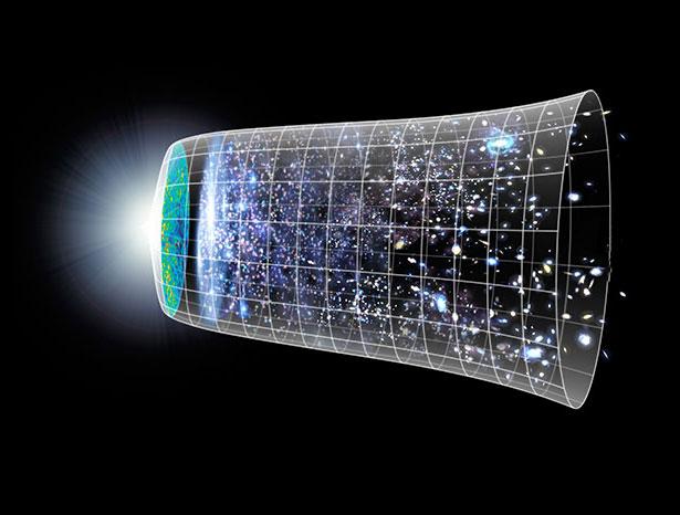 Seit dem Urknall deht sich das Universum aus