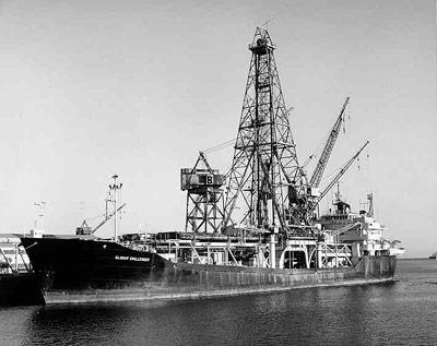 Das Bohrschiff Glomar Challenger in den 1970er Jahren