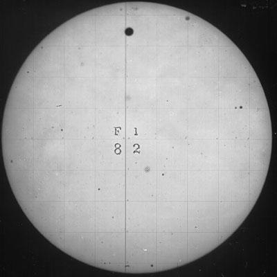 Fotografie des Venustransits von 1882