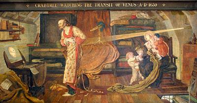 William Crabtree bei der Beobachtung des Venustransits 1639
