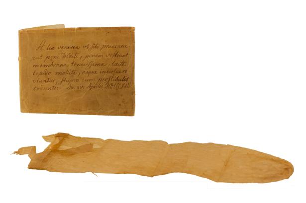 Kondome wie dieses Exemplar aus dem 19. Jahrhundert kannte man in der Antike noch nicht.