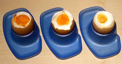 Gekochte Eier: Proteingerinnung durch Hitze