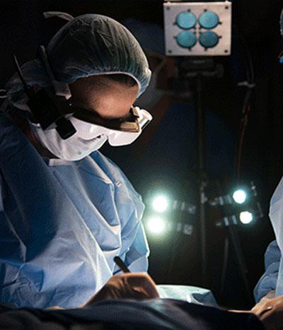 Die Krebsbrille im Einsatz