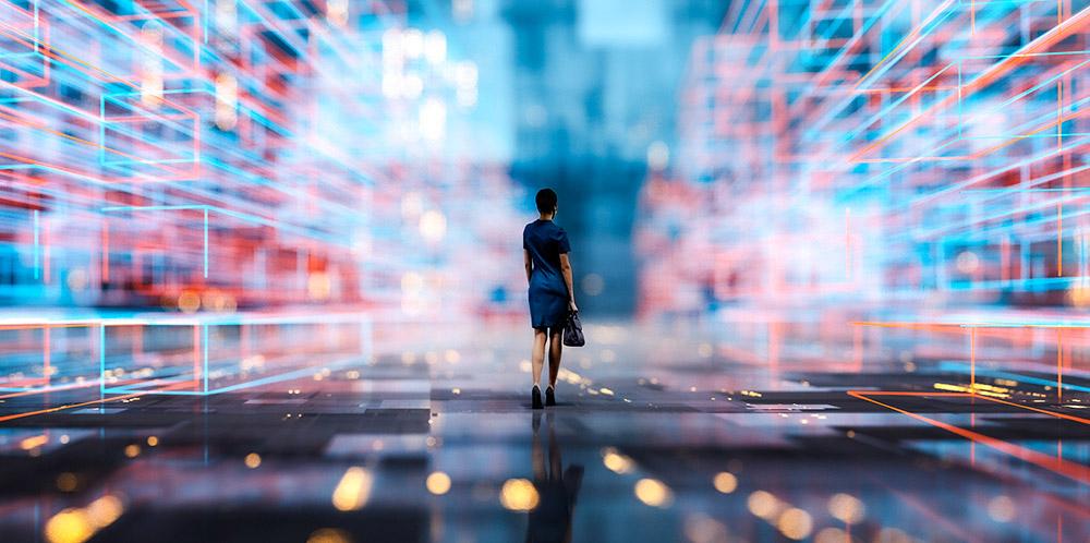 Noch ist das freie, multisensorische Interagieren mit virtuellen Welten eher Zukunftsmusik. © gremlin/ Getty images