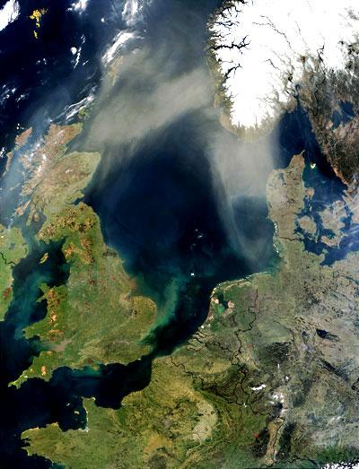 Nordsee aus dem All