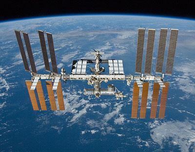 Internationale Raumstation ISS im Erdorbit