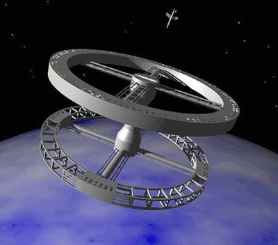 """Raumstation aus """"Odyssee im Weltraum"""""""