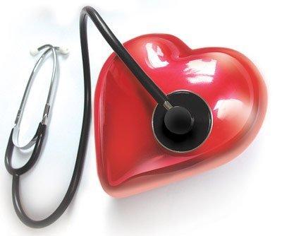 Herz und Stethoskop