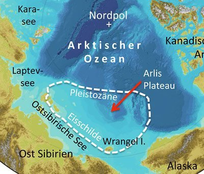Nordpolarmeer Karte.Klimageschichte Des Arktischen Ozeans Muss Umgeschrieben Werden