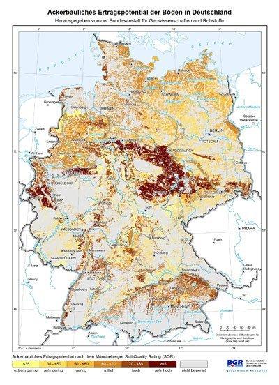 bodenqualität deutschland karte Neue Karte zeigt Deutschlands fruchtbarste Böden   Erster