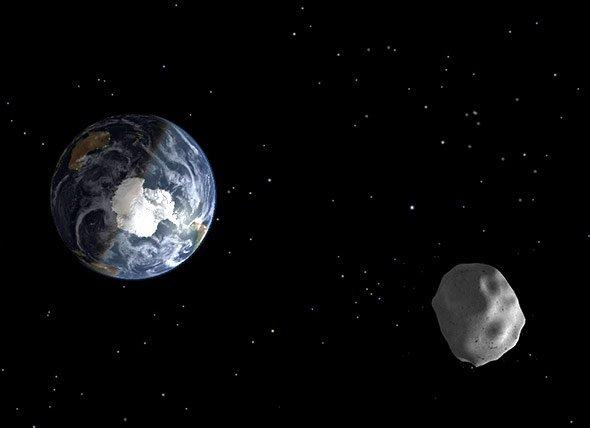 Passage In Dreifacher Mond Entfernung Asteroid Ist Auch Mit Guten
