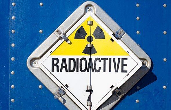 radioaktiv aus dem Jahr 01