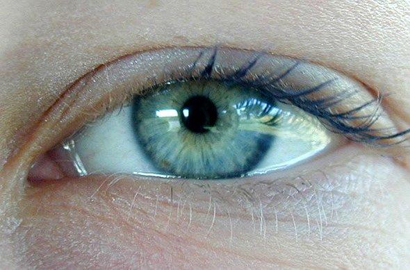Augen blaue große pupillen Bildanalyse