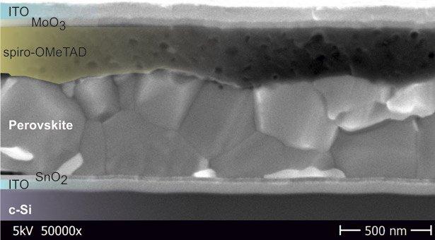 Kombination Aus Silizium Und Perovskit Zellen Erzielt Hohe