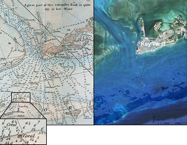 Florida Karte Drucken.240 Jahre Alte Karten Zeigen Das Wahre Ausmaß Des Korallenschwunds