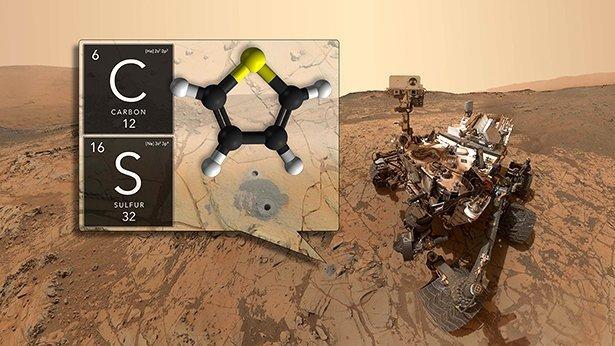 Nasa Rover Curiosity Weist Verschiedene Organische