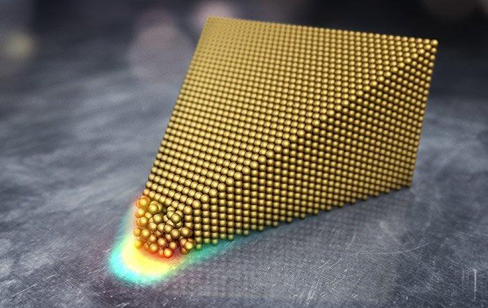 Gold schmilzt bei Raumtemperatur Forscher beobachten