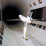 Flugzeug im Windkanal