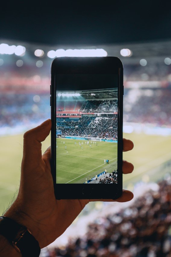 Smartphone mit Kamera-Screen