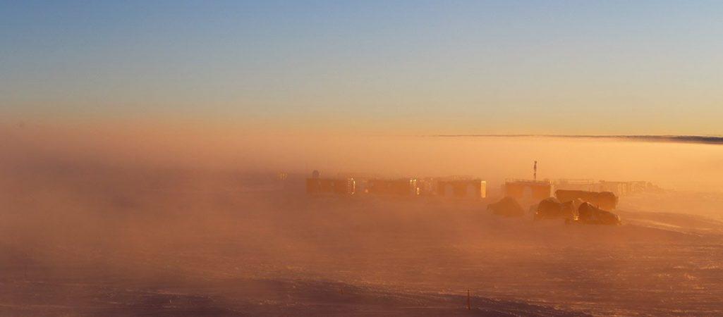 Nebel in der Antarktis