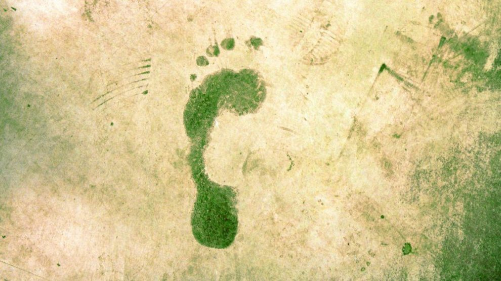 Menschlicher Fußabdruck