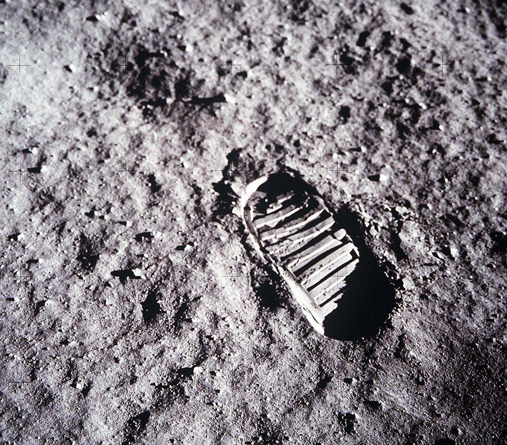 Mond-Fußabdruck