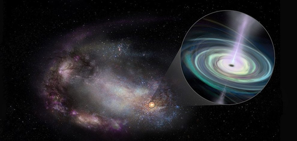 Zwerggalaxie mit verschobenem Schwarzen Loch