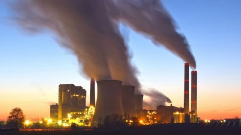 Kraftwerks-Emissionen