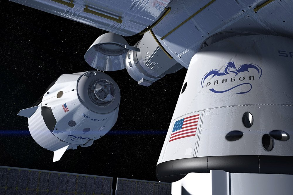 Dragon Kapsel: Erster bemannter Testflug zur ISS Testflug