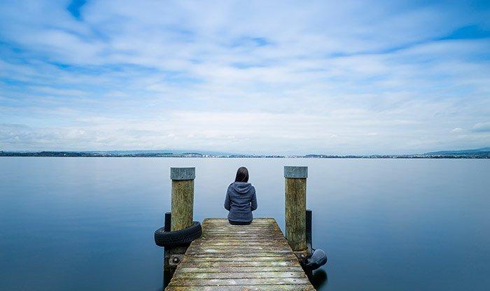einsam und depressiv