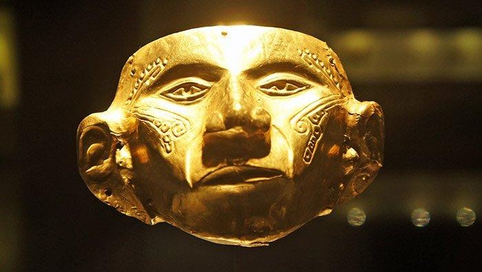 Goldmaske der Muisca