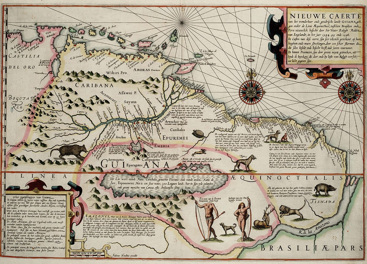 Karte mit Parime-See