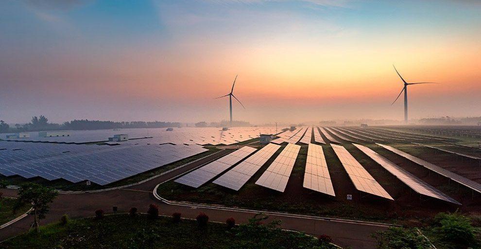 Solar- und Windkraft