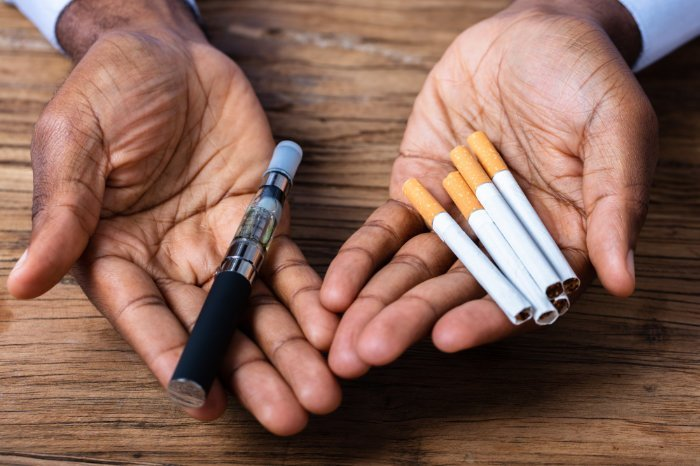 Zigaretten und Verdampfer