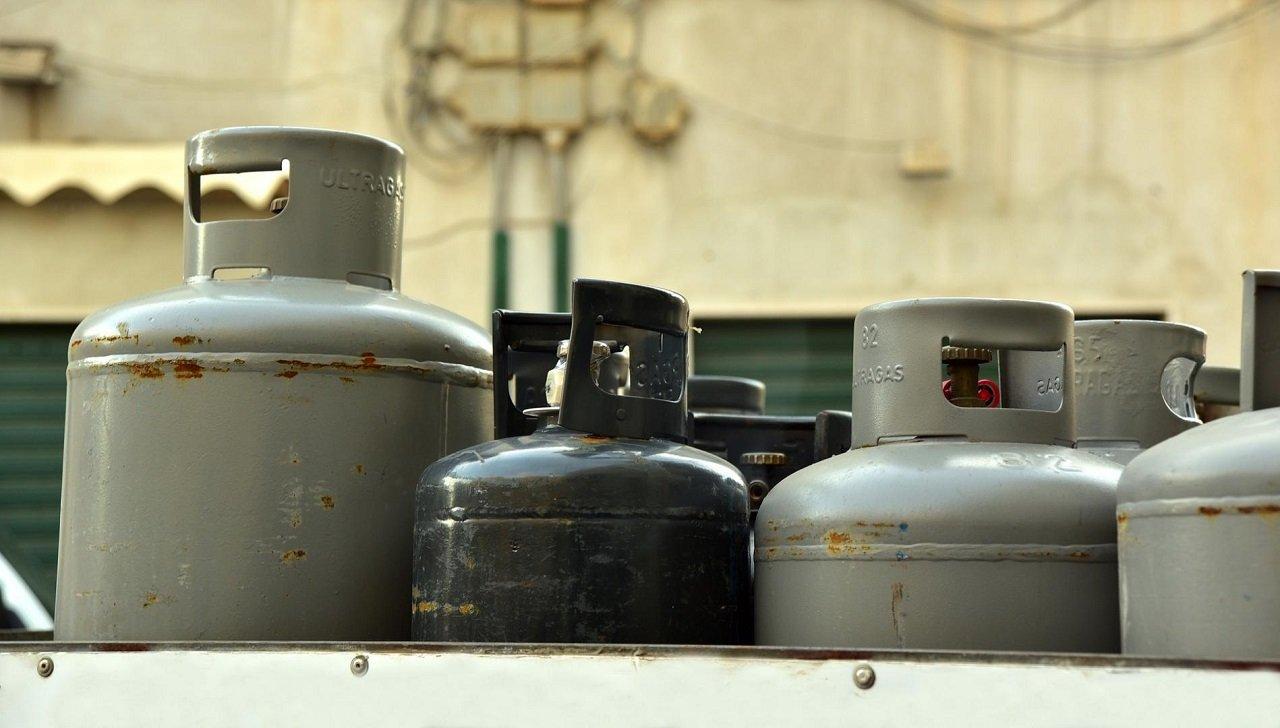 Gasflaschen-Lager