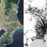 Tokio als Satelliten- und Radarbild