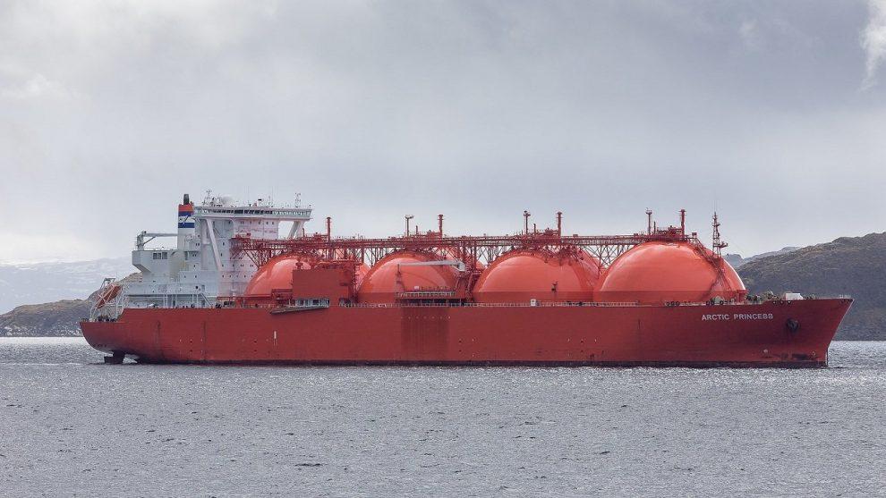 "LNG-Tanker ""Arctic Princess"" vor Hammerfes"