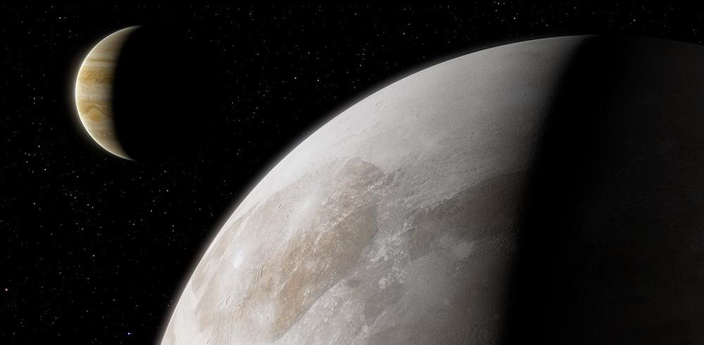 Ganymed hat Wasserdampf in seiner Atmosphäre