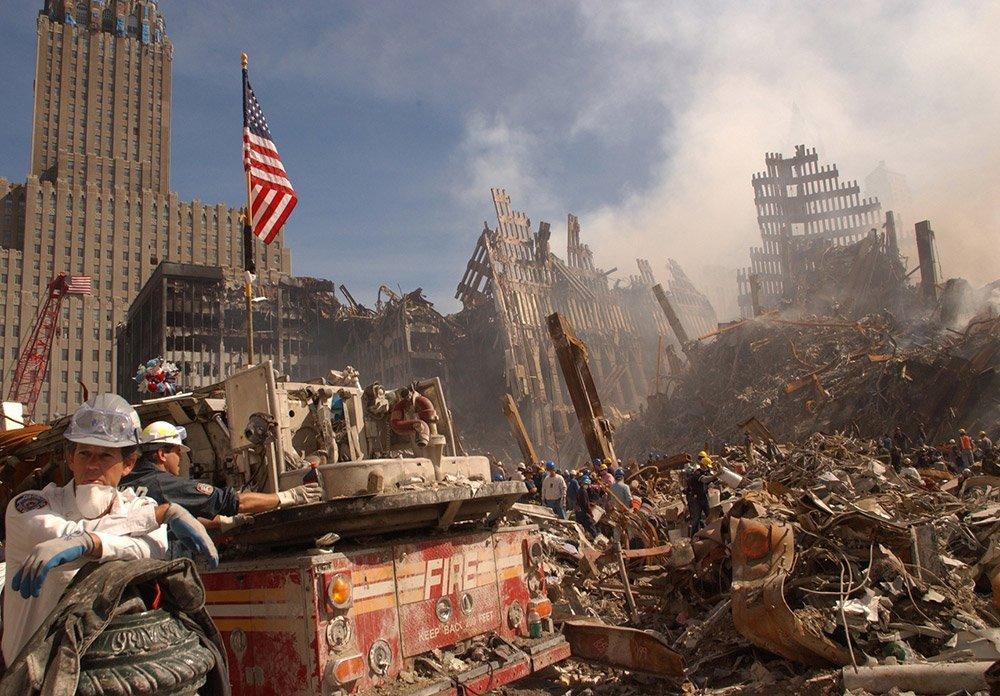 Zerstörtes World Trade Center