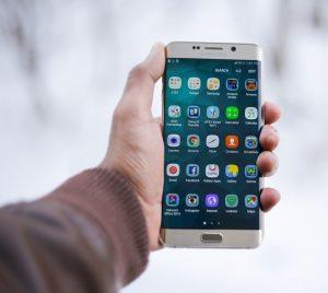 Smartphone-Screen mit App-Icons