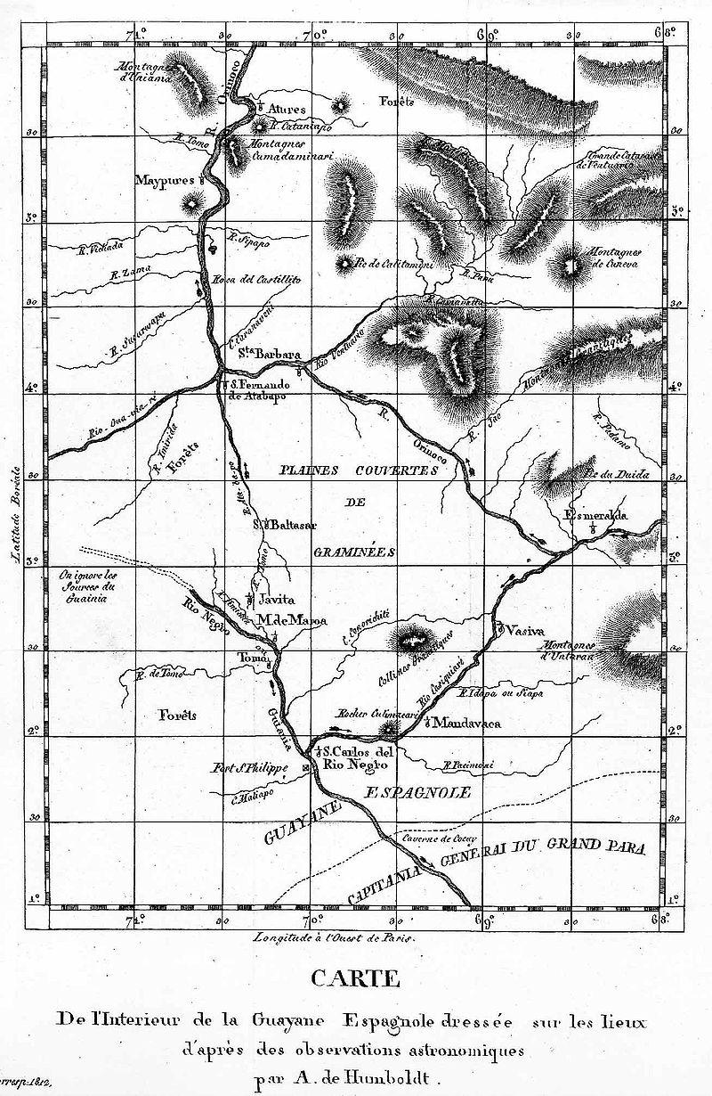Humboldt-Karte des Orinoko