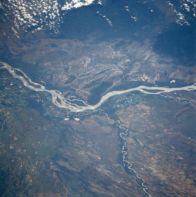 Satellitenbild des Orinoko